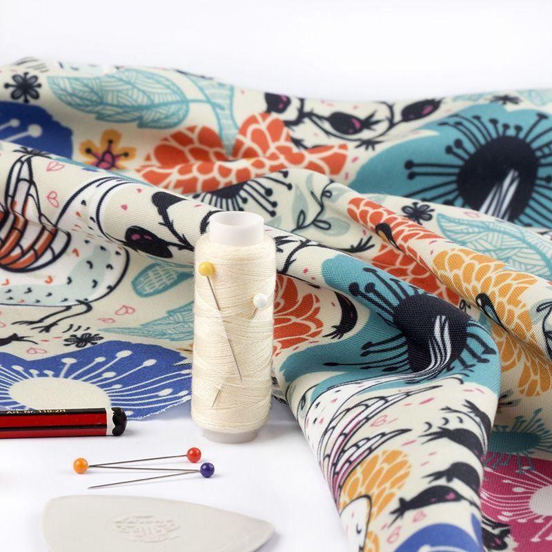 Gewobenen canvas stoff bedrucken mit deinem design nadel faden