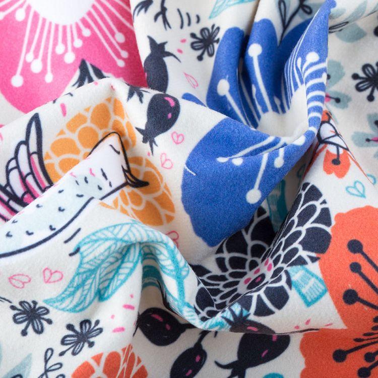 custom printed suede fabric