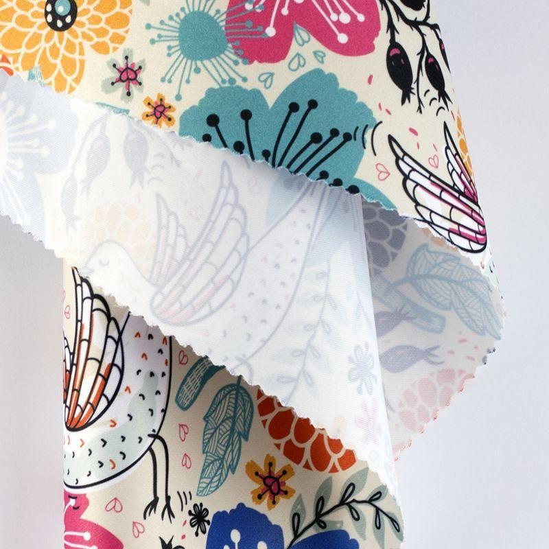 Monroe Satin Print with designer pattern