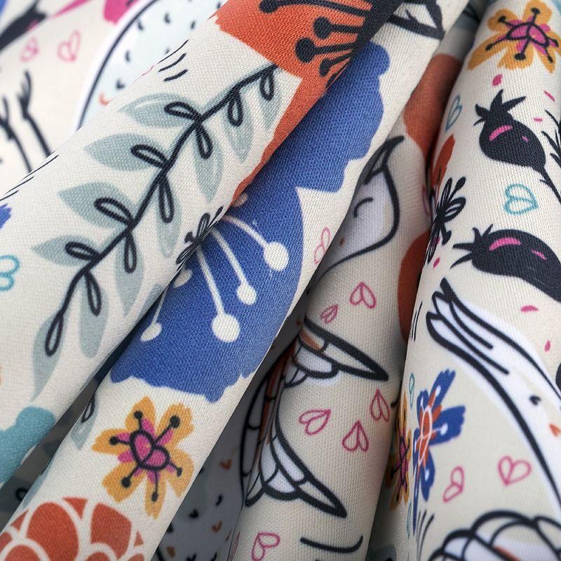 custom printed Monroe Satin fabric