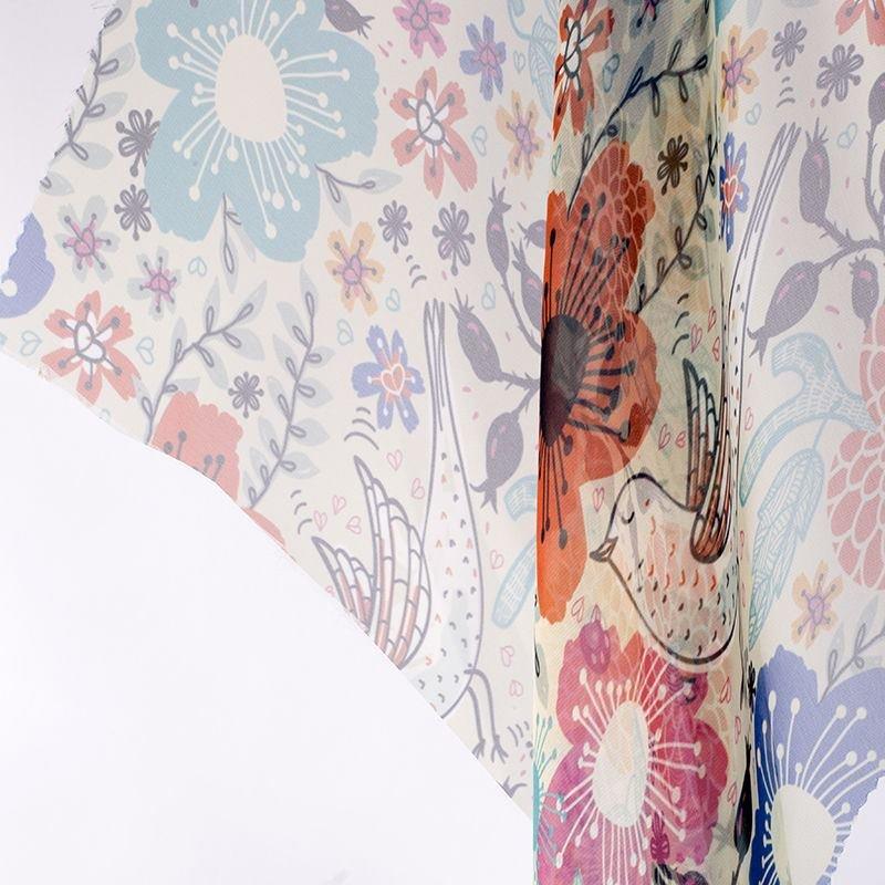 printing Paris Chiffon fabric drape