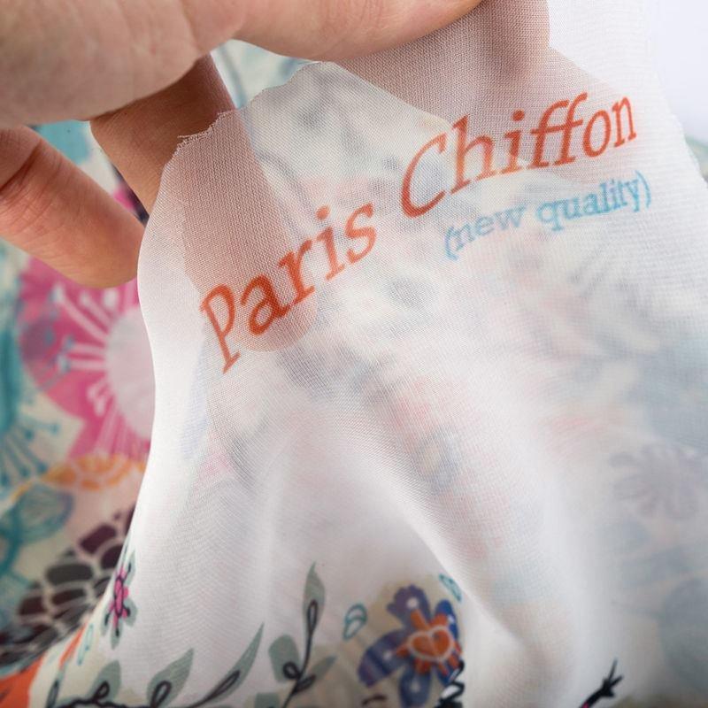 mousseline chiffon Paris à imprimer