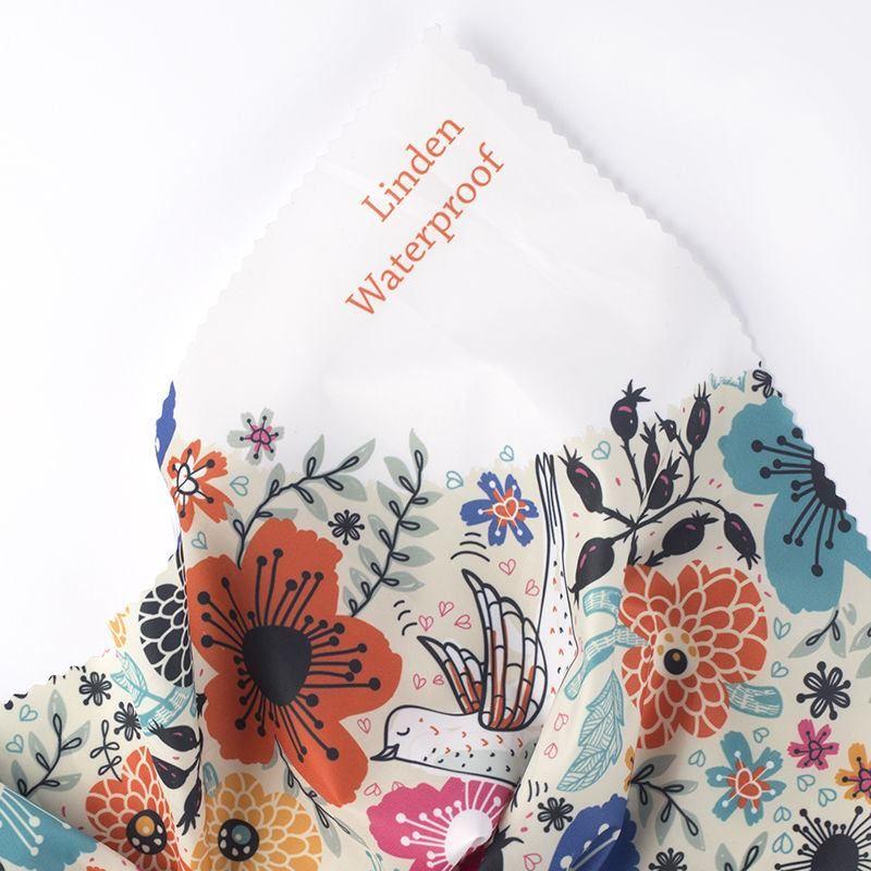 digital printing on Linden Waterproof fabric print sample