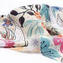 print Polycotton fabric folded texture