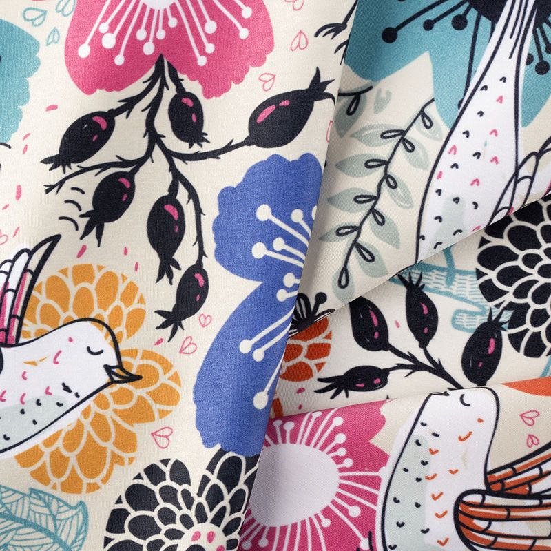custom print peached Poly fabric