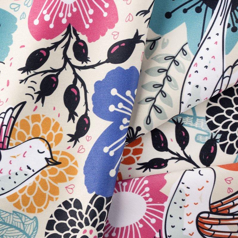 custom print Poly fabric