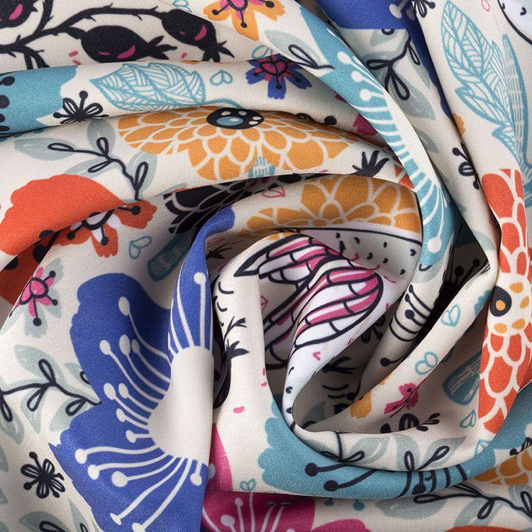 Impression sur tissu polycoton Pêche