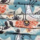 print Boston Microfibre fabric pleated fold