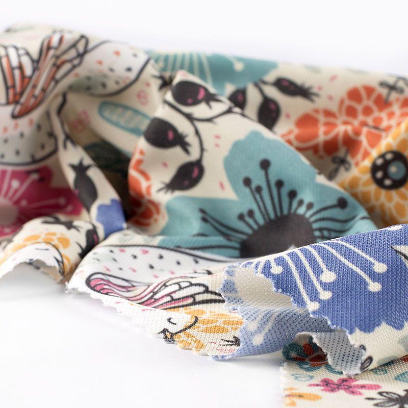 boston pique knit custom polycotton fabric