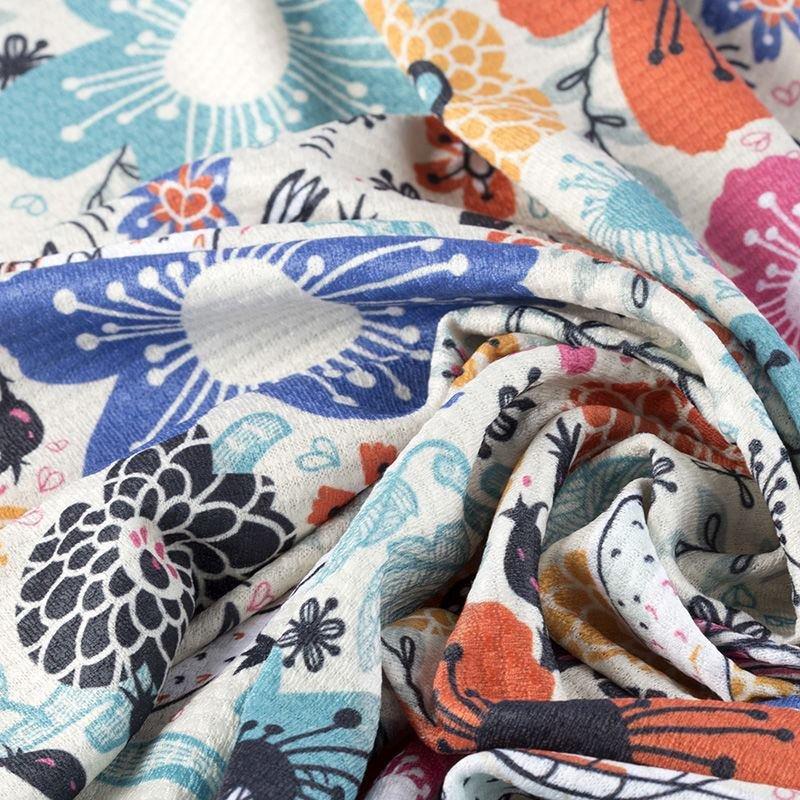custom printed Chain Jersey fabric on demand