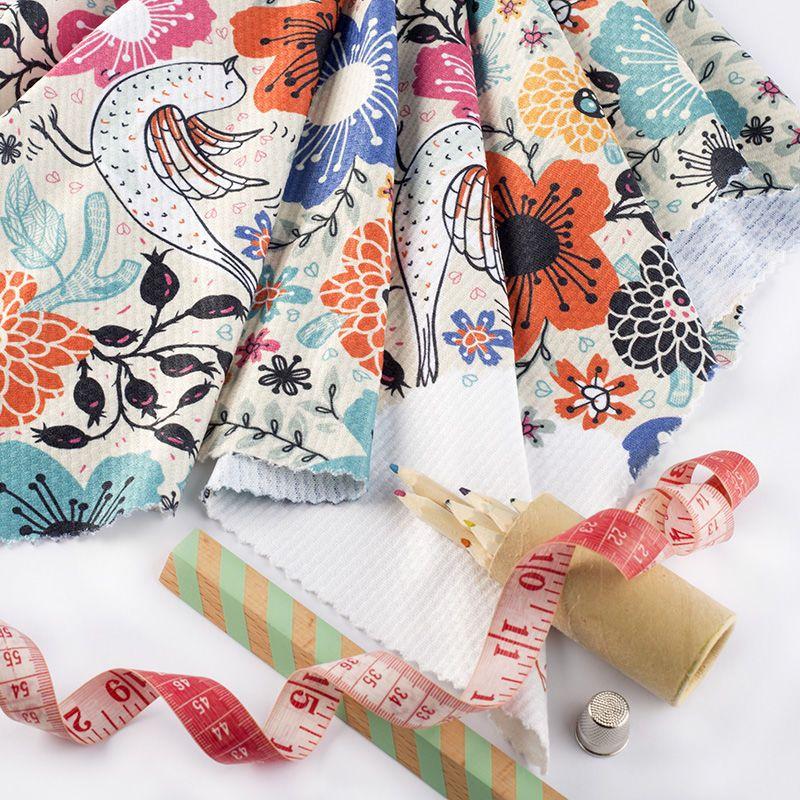 Chain print fabric