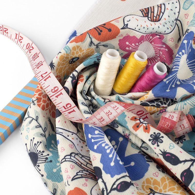 Impresión textil en tela chenille
