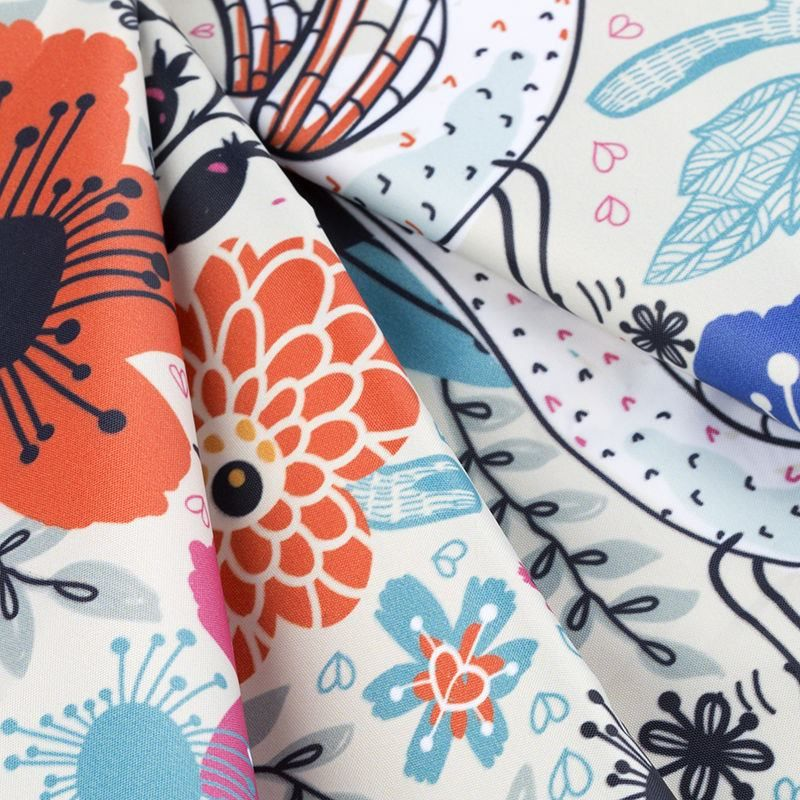 custom printed Ella Waterproof fabric
