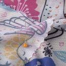custom made Florence Net fabric pinned fold