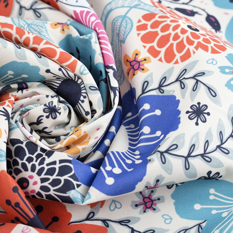 Custom printed poplin fabric