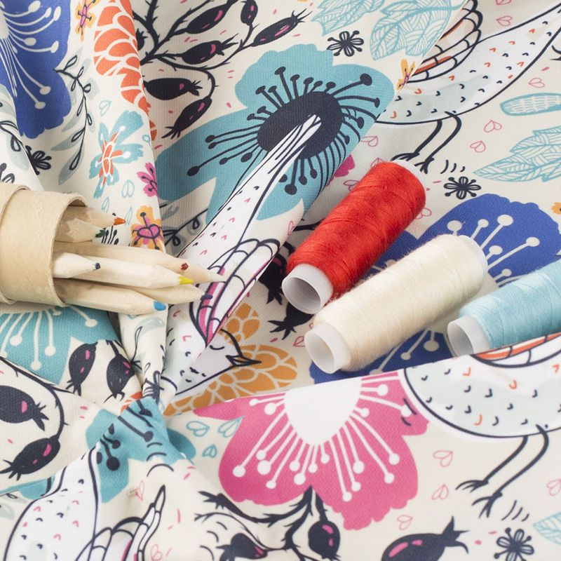 Cotton poplin fabric printing