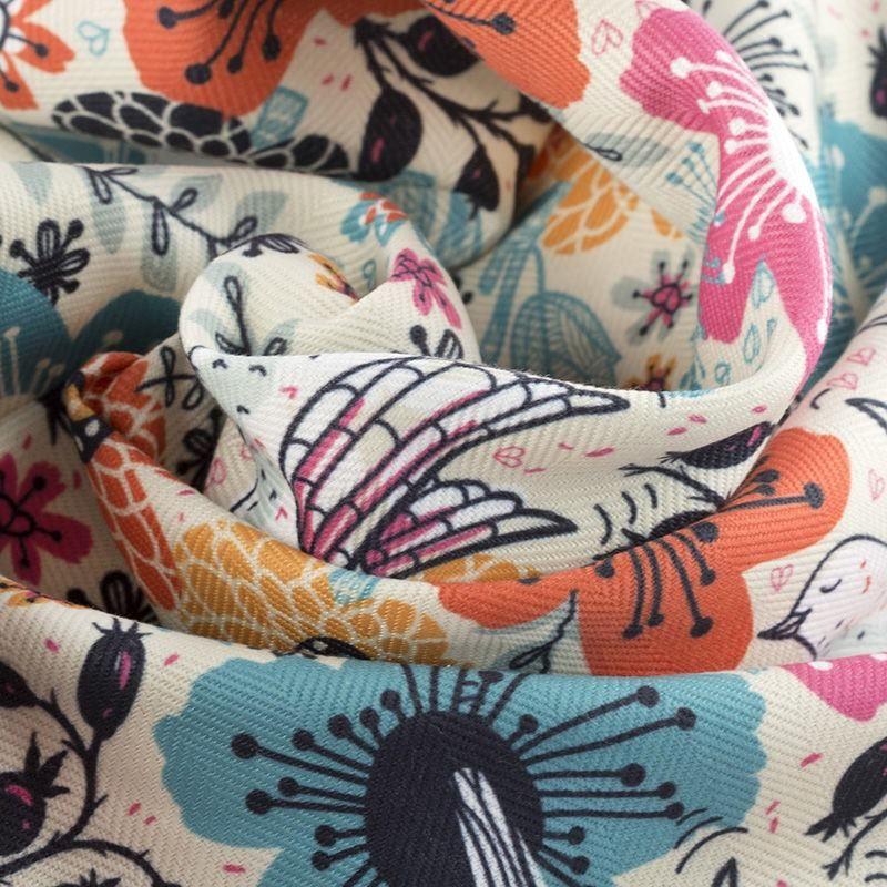 Mayfair Fischgrat Stoff bedruckt mit deinem design drapiert