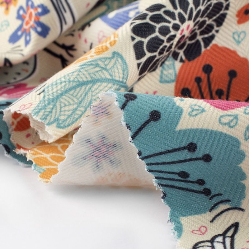 digital printing on herringbone fabric uk