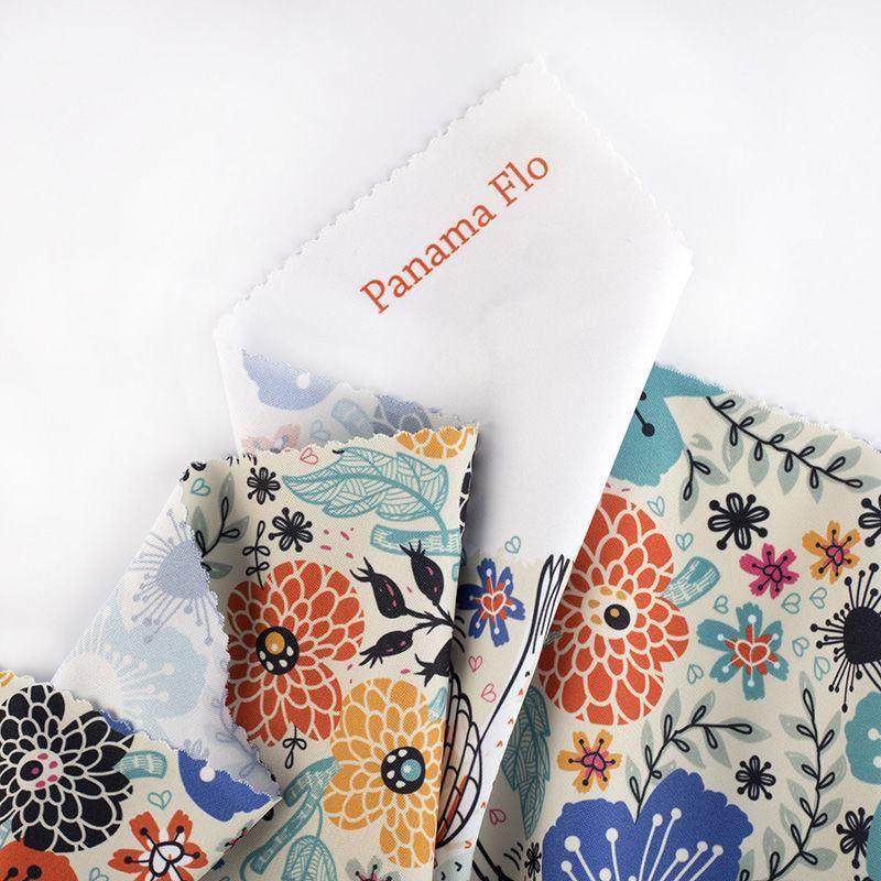 Panama Flo digital print fabric samples
