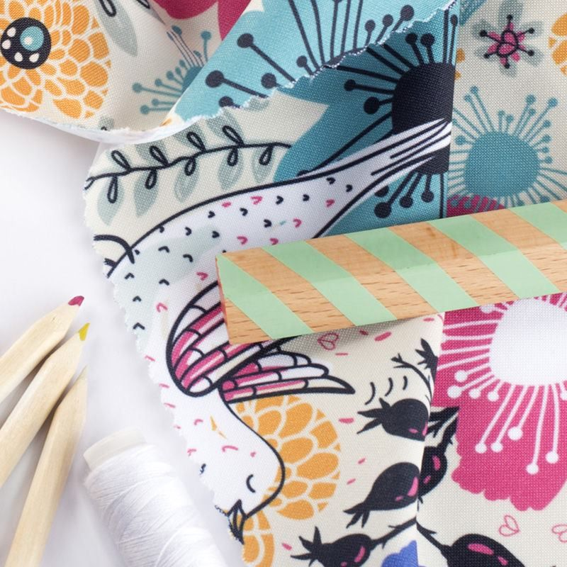 Impresión textil en tela Panamá