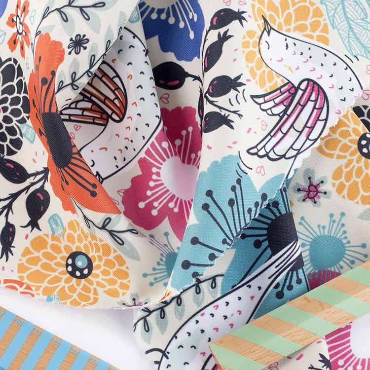 Impression couleur sur le tissu polyester Panama