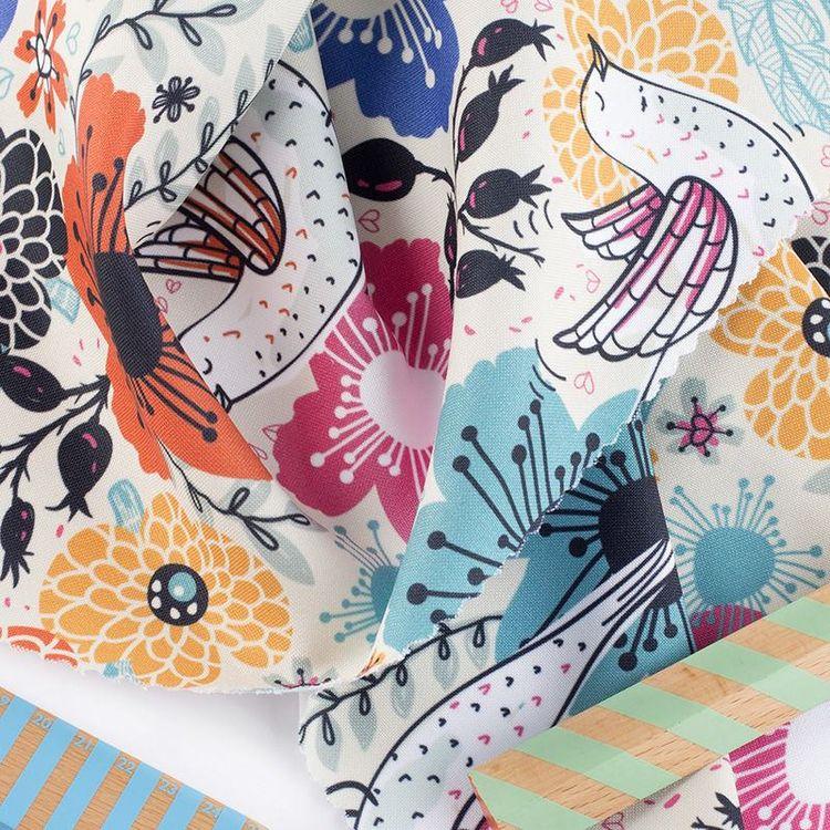 Panama Flo Fabric printing