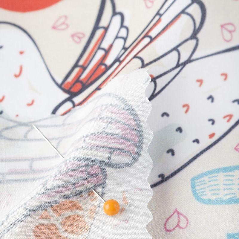 digital printing on Pima Lawn fabric pinned corner