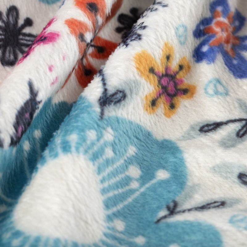 custom Plush Velvet fabric printing