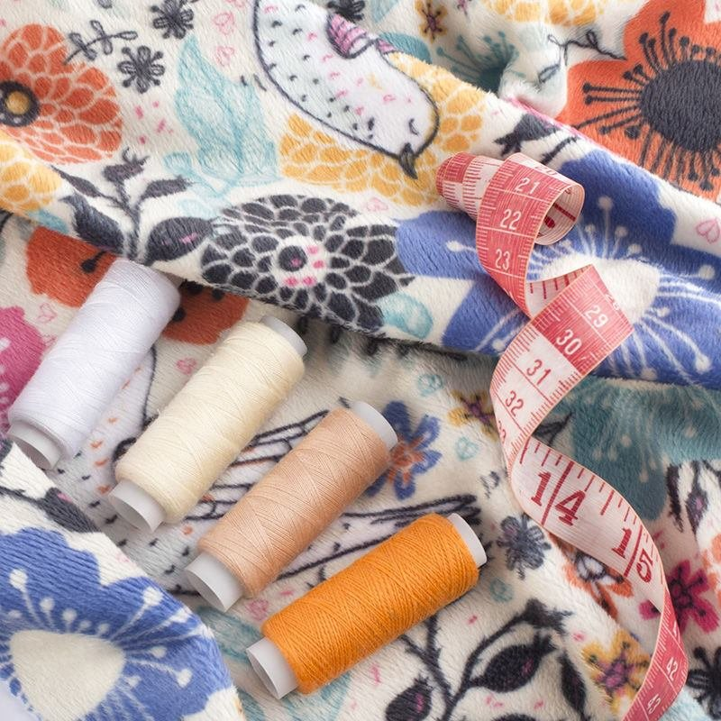 digital Plush Velvet printing pattern