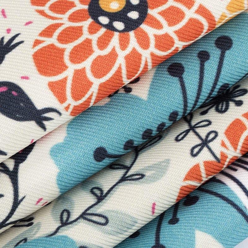 Poly Twill digital print fabric crease