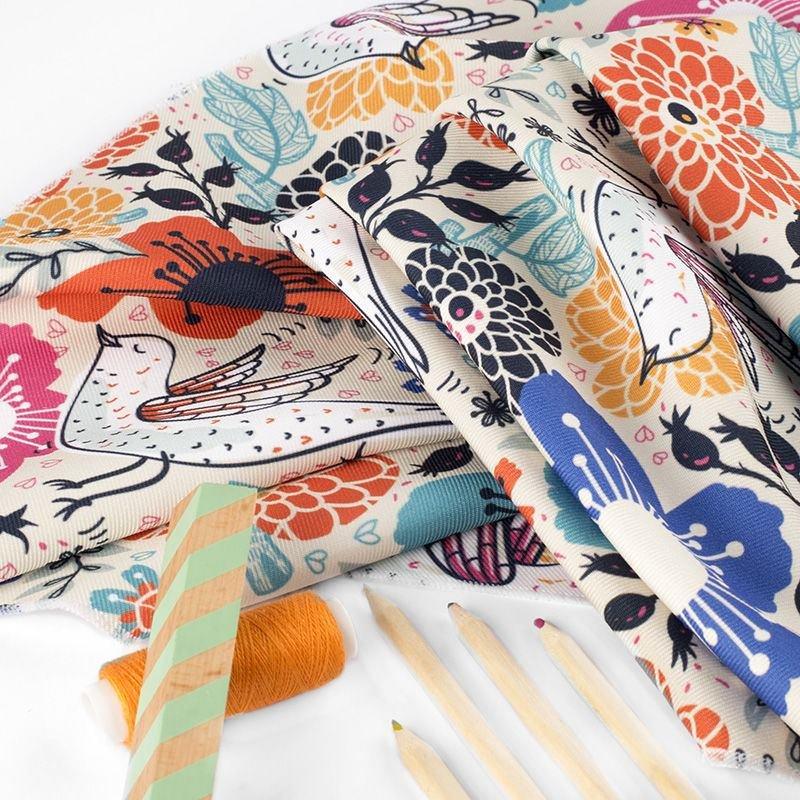 Impresión textil en sarga