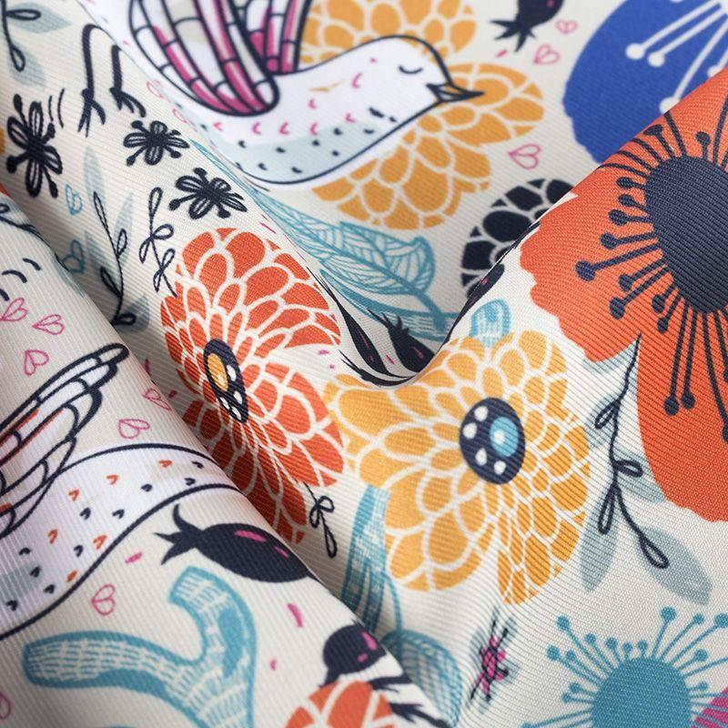 Sublimación textil en sarga