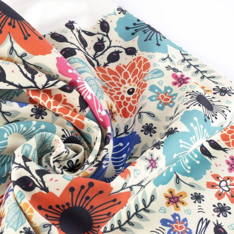 print on Portobello Canvas upholstery fabric samples