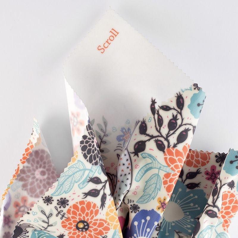 printing stiff Scroll fabric small print
