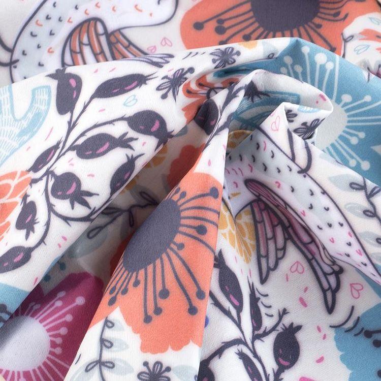 Scroll Printing Fabric