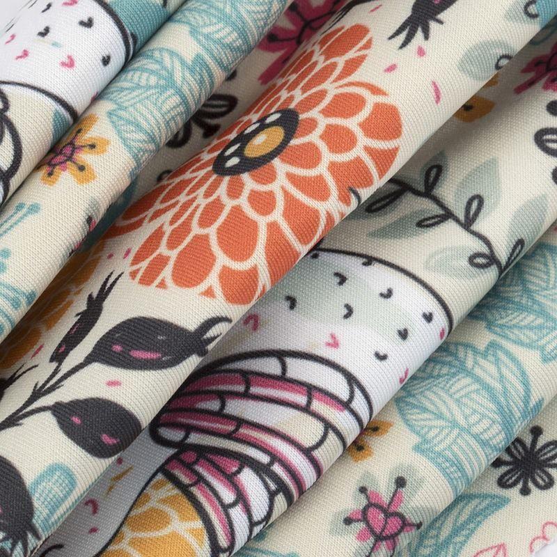 Scuba digital print fabric heavy
