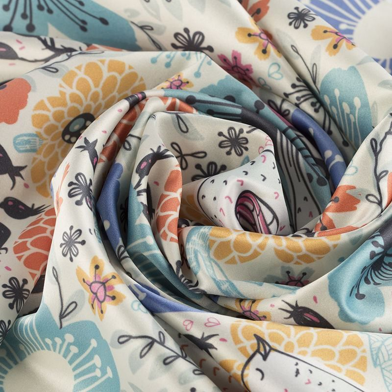 custom printed Silk Sensation fabric
