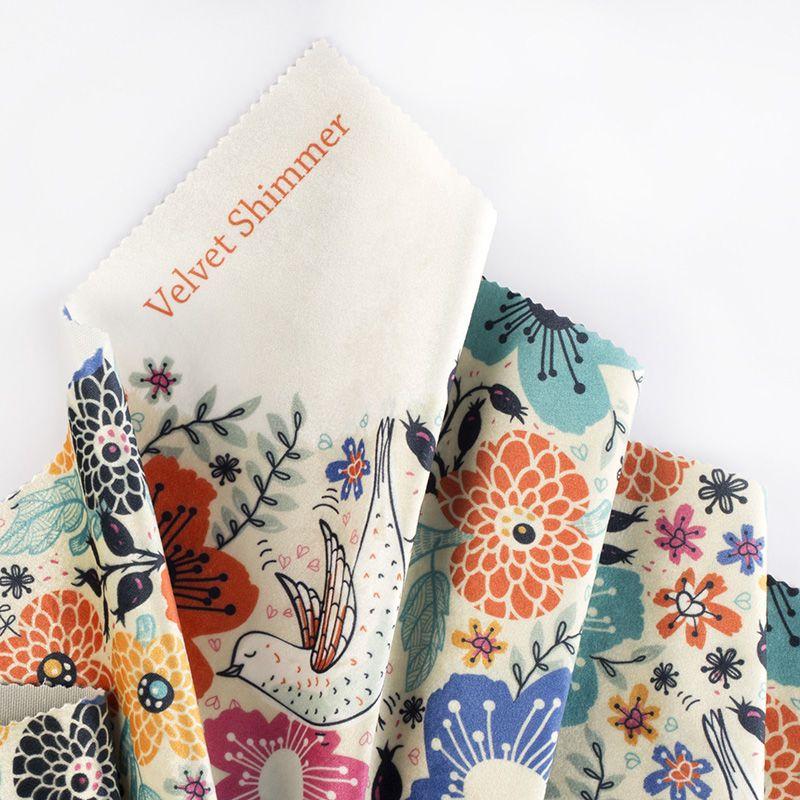 Custom Print On Velvet Custom Printed Velvet Fabric