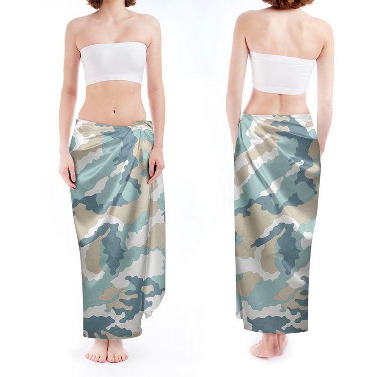 camouflage custom printed sarong