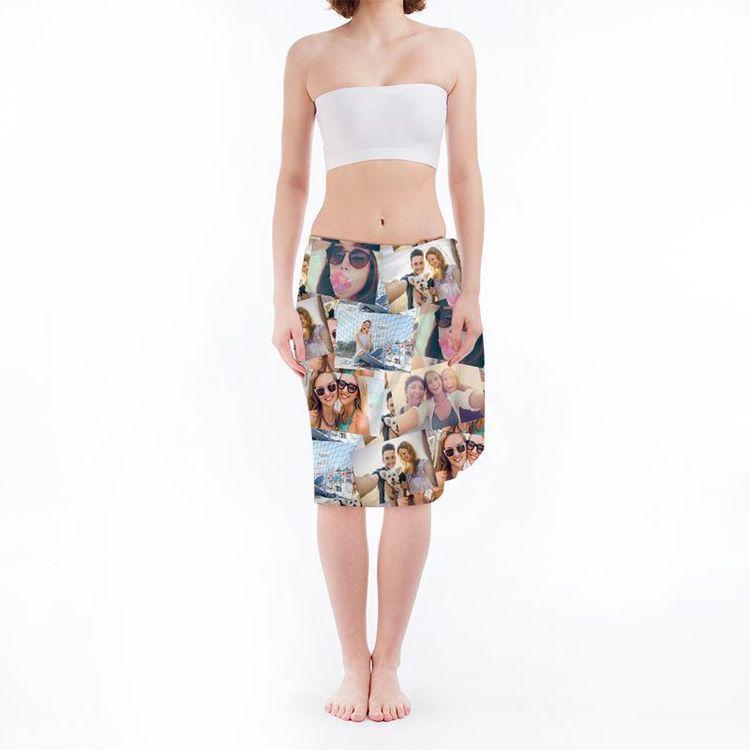 custom collage sarong