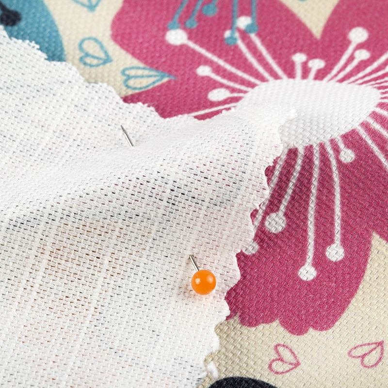tissu Coton Lin personnalisé