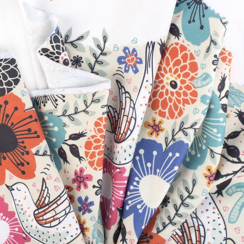 custom printed Loopback Jersey fabric