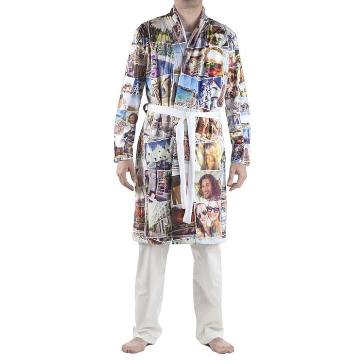 gepersonaliseerde badjas met fotocollage