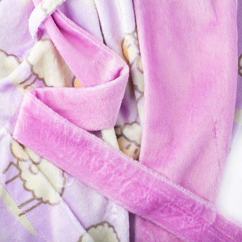 plush velvet bathrobe
