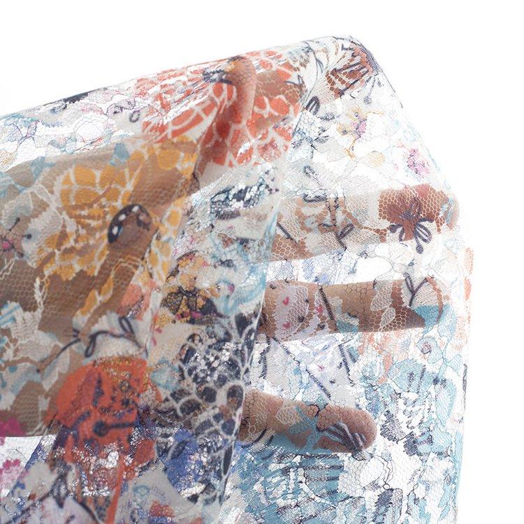 spitzenstoff meterware flora spitze bedruckt