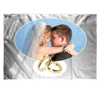 Personlig flagga bröllop