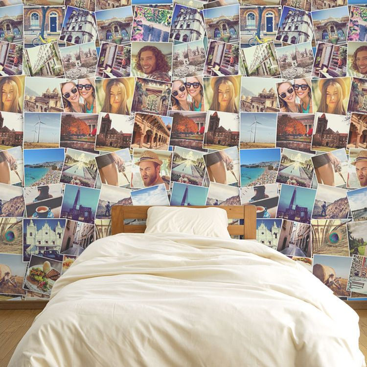 个性化照片拼图卧室壁纸