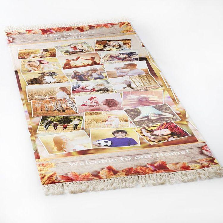 collage rug family photos