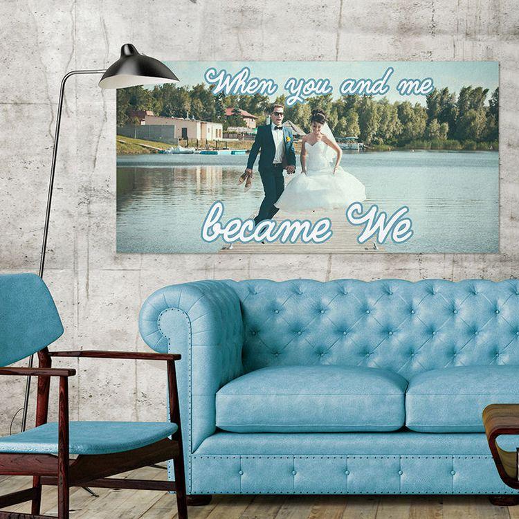 Poster photo de mariage