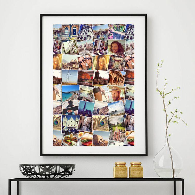 Poster personnalisé avec un montage photos